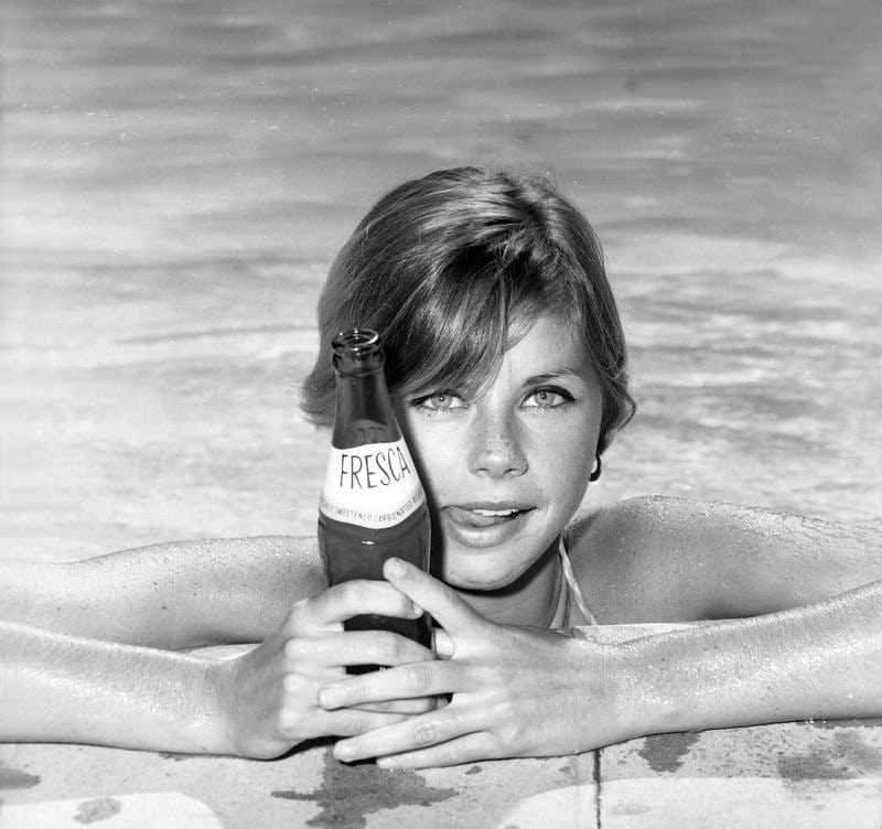 Jan Smithers in the pool