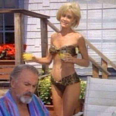 Joan Van Ark in a bikini