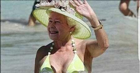 Queen Elizabeth Bikini Photo